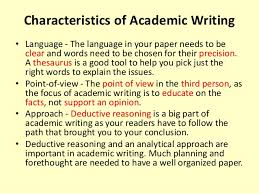 introduction to academic writing 9 characteristics of academic writing
