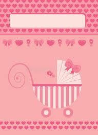 Babygirl Cards Baby Girl Born Stock Illustration Illustration Of Beginning