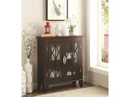 Living Room Chests Cabinets Coaster Accent Cabinets Accent Cabinet W Glass Doors Del Sol