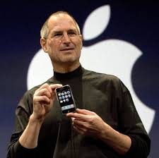 steve jobs introduces the first iphone in biography steve jobs photo