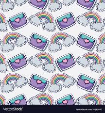Fashion Cute Patch Background Design