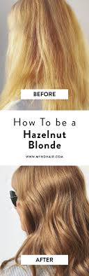The Hazelnut Blonde Before And After