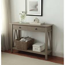 entrance tables furniture. Titian Rustic Gray Storage Console Table Entrance Tables Furniture