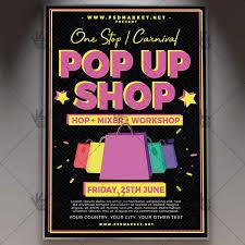 pop up brochure template download pop up shop flyer psd template psdmarket