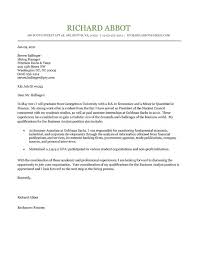 Student Cover Letter For Resume Student Cover Letter Example Cover