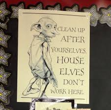 best hp classroom ideas images harry potter good sign for library clean up
