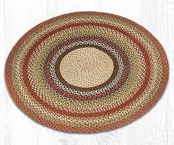 honey vanilla ginger round braided rug 4 foot