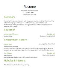 Sample Resume Simple 1 Basic Outline Are Really Great Examples Of