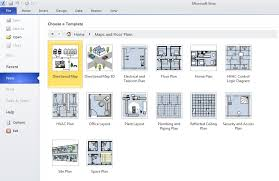 selecting the floor plan template in visio 2010 professional