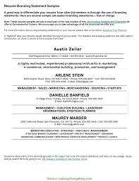Branding Statement Resume Excellent Branding Resume Samples Branding Statement Resume Examples 1