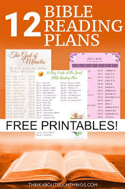 Free Bible Reading Chart Printable 12 Creative Bible Reading Plans Think About Such Things