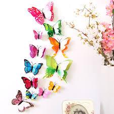 Butterfly Home Decor Accessories 100 Pcs 100D PVC Wall Stickers Magnet Butterflies Home Decor 15