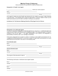 Sample Medical Power Of Attorney Form Example Free Texas Medical Power of Attorney Form PDF Template Form Download 1