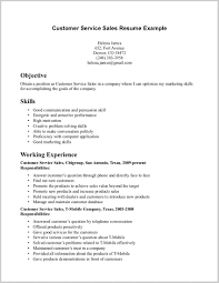 Fabulous Examples Of Customer Service Resumes Image Of Resume