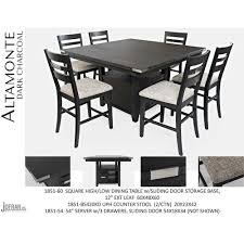 Jofran Altamonte Square Counter Height Table With Ladderback Stools
