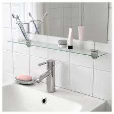 glass shelves for bathroom. ikea kalkgrund glass shelf tempered - extra resistant to heat, impact and heavy loads shelves for bathroom r
