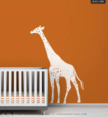 46 giraffe wall decal large king giraffe wall decal for nursery children bedroom kids mcnettimages com
