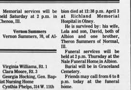 Vernon A Summers Obit WikiTree - Newspapers.com
