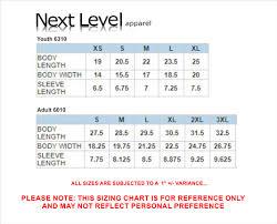 Next Level 6010 Size Chart Metro Lax 2017 Royal Tri Blend Tee