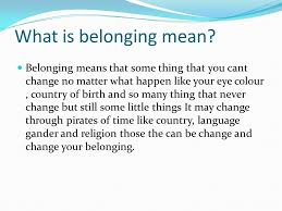 belonging essay questions