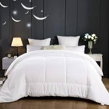 home sheet set merous comforter goose down alternative duvet insert hypoallergenic and lightweight luxury hotel collection king california king white