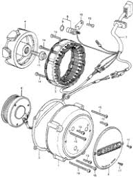 1977 honda cb400f a oem parts babbitts honda partshouse alternator