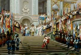 celebrity reception of the grand count by louis xiv lapham s  reception of the grand count by louis xiv by jean leon gerome 1878