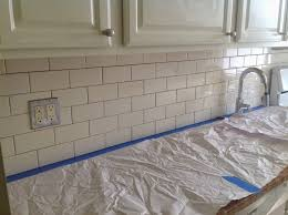 Wonderful How To Grout Subway Tile Backsplash Pics Decoration Ideas