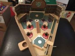 Wooden Baseball Game Toy Wooden Baseball Pinball Game Kids Adults Toys Vintage Classic 31