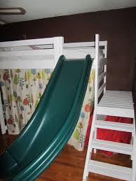 kids bed ideas Camp Loft Bed with Stairs, Slide and Fort | DIY For ...