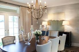 image of modern dining room chandelier height