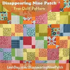 The Free Motion Quilting Project: Disappearing Nine Patch Quilt ... & Creating this quilt is so easy and fast! First you create jumbo Nine Patch  Quilt Blocks, then Poof! make them disappear to create the quarter block  shapes, ... Adamdwight.com