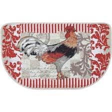 Rooster Rugs For Kitchen Mainstays Rooster Printed Slice Kitchen Mat Walmartcom
