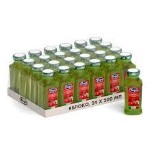 Фруктовый <b>сок Yoga яблочный</b>, 0.2 л, стекло 24 шт. — купить в ...