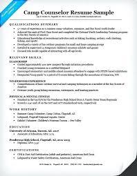 Lifeguard Resume Skills Camp Counselor Resume Sample Resume Examples