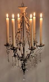 paris flea market crystal hanging metal chandelier candleholder