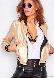 mila gold metallic faux leather er jacket d521797 women s coats jackets