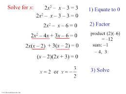 solve for x 2x2 x 3 3 1 equate to 0