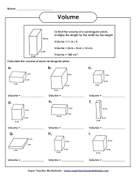 Pictures on Volume Maths Worksheets, - Easy Worksheet Ideas