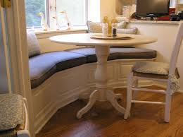 kitchen banquette furniture. Grandiose Rounded Breakfast Pedestal Table Also Banquette Bench With Cushions Kitchen Furniture