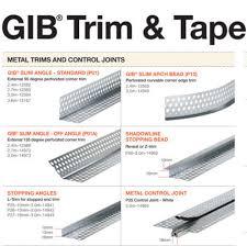 Gib Plasterboard Trim And Tape Selector Chart Gib