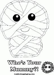 Small Picture Mummy Color Halloween Coloring Pages Free Printable Ideas from