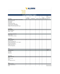 Time Budget Template 50 Useful Event Budget Templates Party Budget Planners