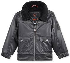 black leather jackets hawke co faux leather er jacket toddler boys