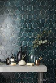 Deep green tile honeycomb Pinteres