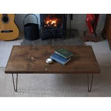 Industrial Looking Coffee Tables Style Coffee Table With Metal Hairpin Legs