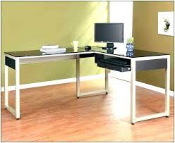 full size of black glass desk homebase fantastic furniture metal frame top office l shaped return