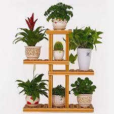 generic 4 tier wooden plant stand indoor outdoor garden planter flower pot stand shelf