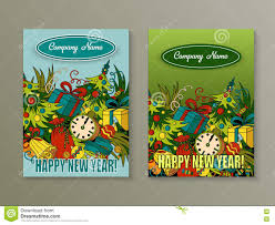 cartoon cute colorful vector hand drawn doodles new year season  cartoon cute colorful vector hand drawn doodles new year season 2 vertical flyers design