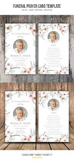 Funeral Templates Free Amazing In Memory Cards Templates Free Printable Funeral Prayer Card